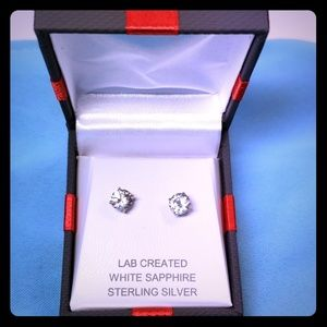 Jewelry - *NEW* LC White Sapphire & Sterling Silver Earrings